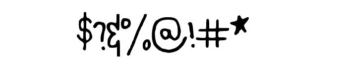 KaesHandwriting Font OTHER CHARS