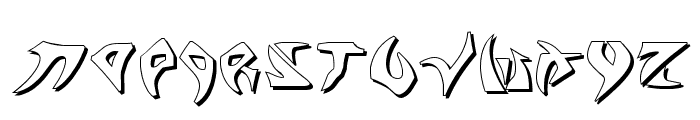 Kahless Shadow Font LOWERCASE
