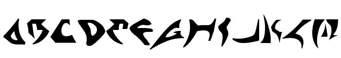 Kahless Font UPPERCASE