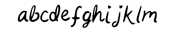 Kait_s_Handwriting Font LOWERCASE