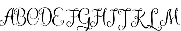 KaiyilaScriptDEMO Font UPPERCASE