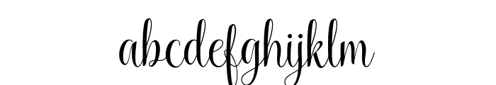 KaiyilaScriptDEMO Font LOWERCASE
