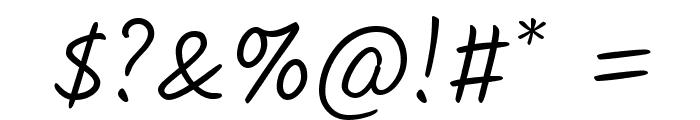 Kalam Light Font OTHER CHARS