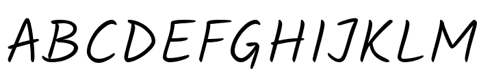 Kalam Light Font UPPERCASE