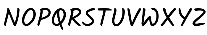 Kalam Font UPPERCASE