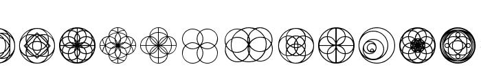 Kaleidoscopic Vision Font UPPERCASE