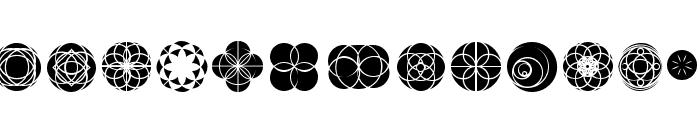 Kaleidoscopic Vision Font LOWERCASE
