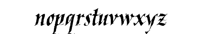 KaligrafLatin Font LOWERCASE