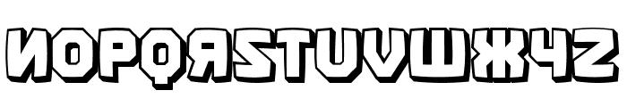 Kalinka Distorted 3D Regular Font LOWERCASE