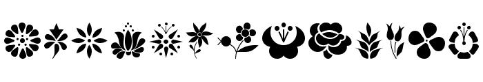 Kalocsai Flowers Font UPPERCASE