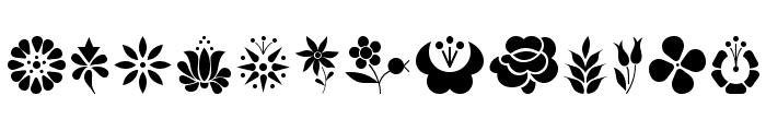 Kalocsai Flowers Font LOWERCASE