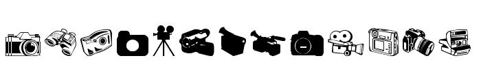 Kamera Dings Font UPPERCASE