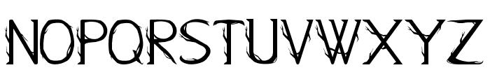 Kampung Zombie Regular Font UPPERCASE
