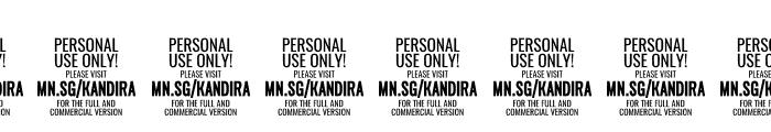 Kandira PERSONAL Black Italic Font OTHER CHARS