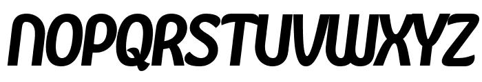 Kandira PERSONAL Black Italic Font UPPERCASE