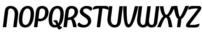 Kandira PERSONAL Bold Italic Font UPPERCASE