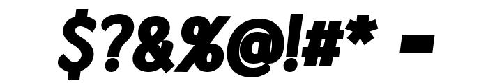 Kandira PERSONAL ExtraBlack Italic Font OTHER CHARS