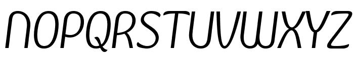 Kandira PERSONAL Light Italic Font UPPERCASE