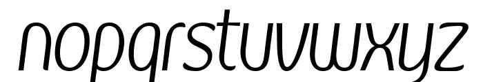 Kandira PERSONAL Light Italic Font LOWERCASE