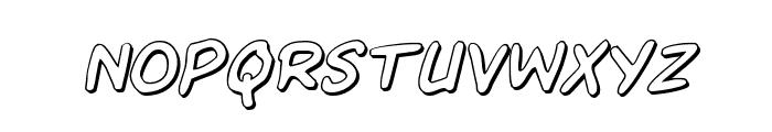 Kangaroo Court 3D Italic Font LOWERCASE