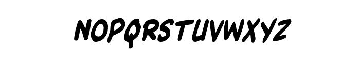 Kangaroo Court Condensed Italic Font UPPERCASE