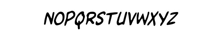 Kangaroo Court Condensed Italic Font LOWERCASE