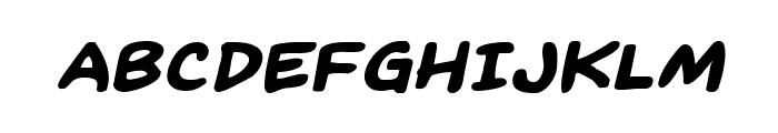 Kangaroo Court Expanded Italic Font UPPERCASE