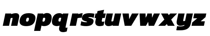 Kanit Black Italic Font LOWERCASE