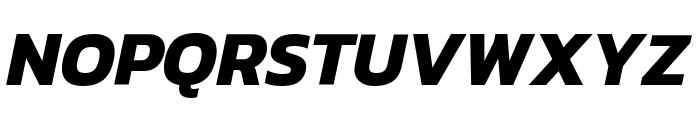 Kanit Bold Italic Font UPPERCASE