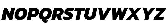 Kanit ExtraBold Italic Font UPPERCASE