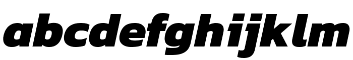 Kanit ExtraBold Italic Font LOWERCASE