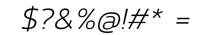 Kanit ExtraLight Italic Font OTHER CHARS