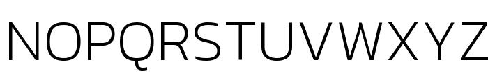 Kanit ExtraLight Font UPPERCASE