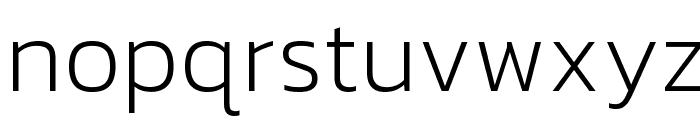 Kanit ExtraLight Font LOWERCASE