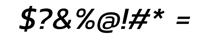 Kanit Italic Font OTHER CHARS