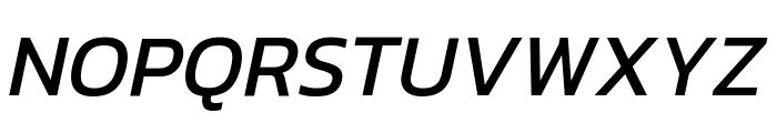 Kanit Italic Font UPPERCASE