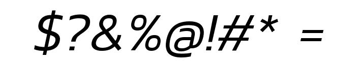 Kanit Light Italic Font OTHER CHARS