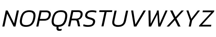 Kanit Light Italic Font UPPERCASE