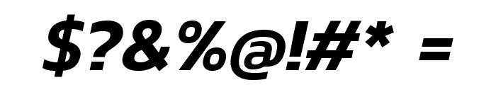 Kanit SemiBold Italic Font OTHER CHARS