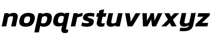 Kanit SemiBold Italic Font LOWERCASE