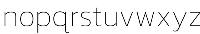 Kanit Thin Font LOWERCASE