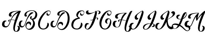 Kansha Font UPPERCASE