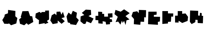 Kantai Collection Camouflage Font LOWERCASE
