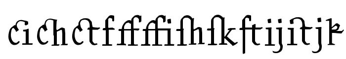 Kantor Ligatures Font LOWERCASE