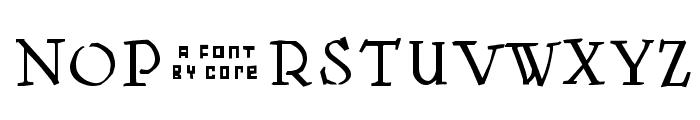 Kantor Font UPPERCASE