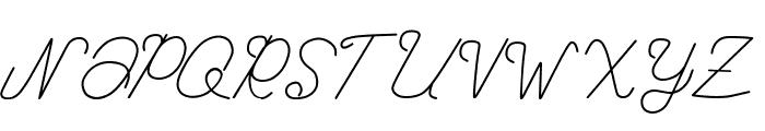 Kanuda Font UPPERCASE