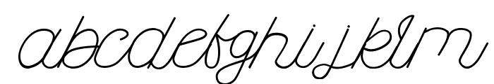 Kanuda Font LOWERCASE