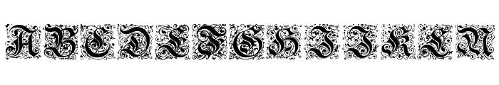 Kanzlei-Initialen Font UPPERCASE