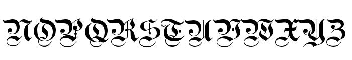 Kanzlei Light Font UPPERCASE