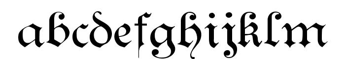 Kanzlei Light Font LOWERCASE